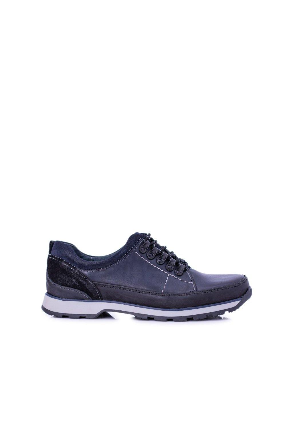 Pánske poltopánky farba modrá kód obuvi 867 GR NAVY