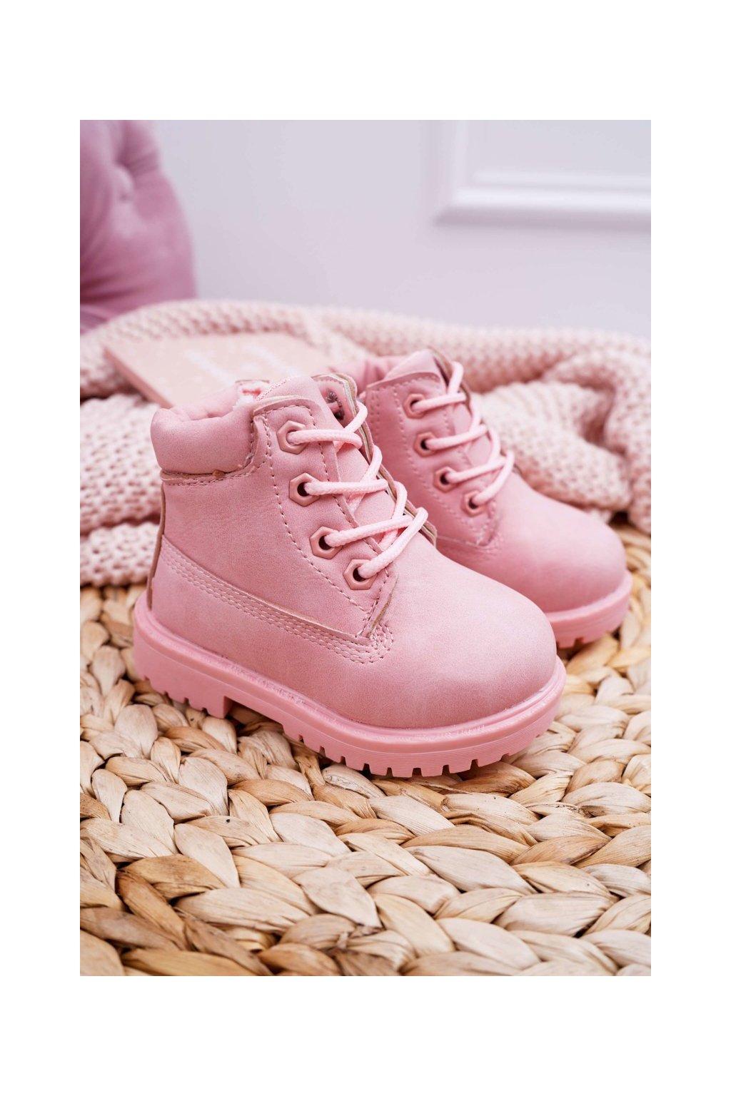 Detské členkové topánky farba ružová kód obuvi 20305-1C/2C PINK