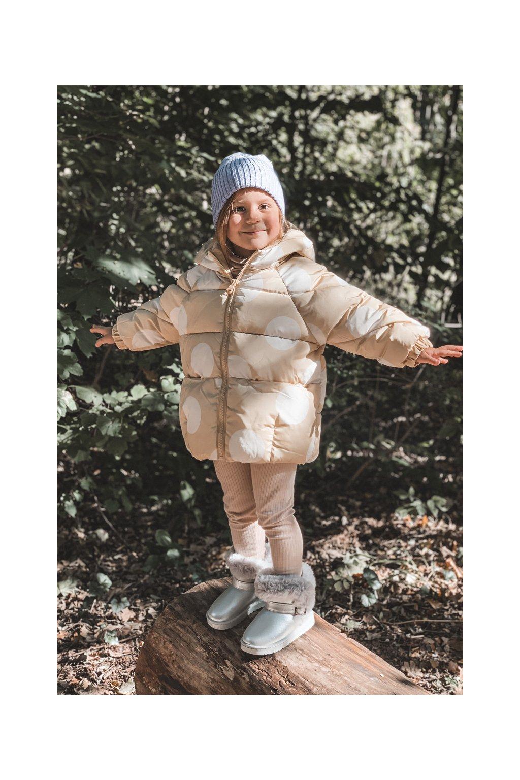 Detské snehule farba sivá kód obuvi 20221-1G SILVER