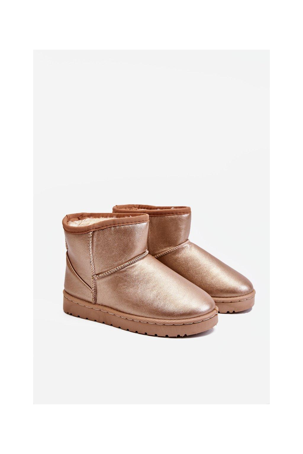 Detské snehule farba ružová kód obuvi 20220-1H/2H CHAMPAGNE