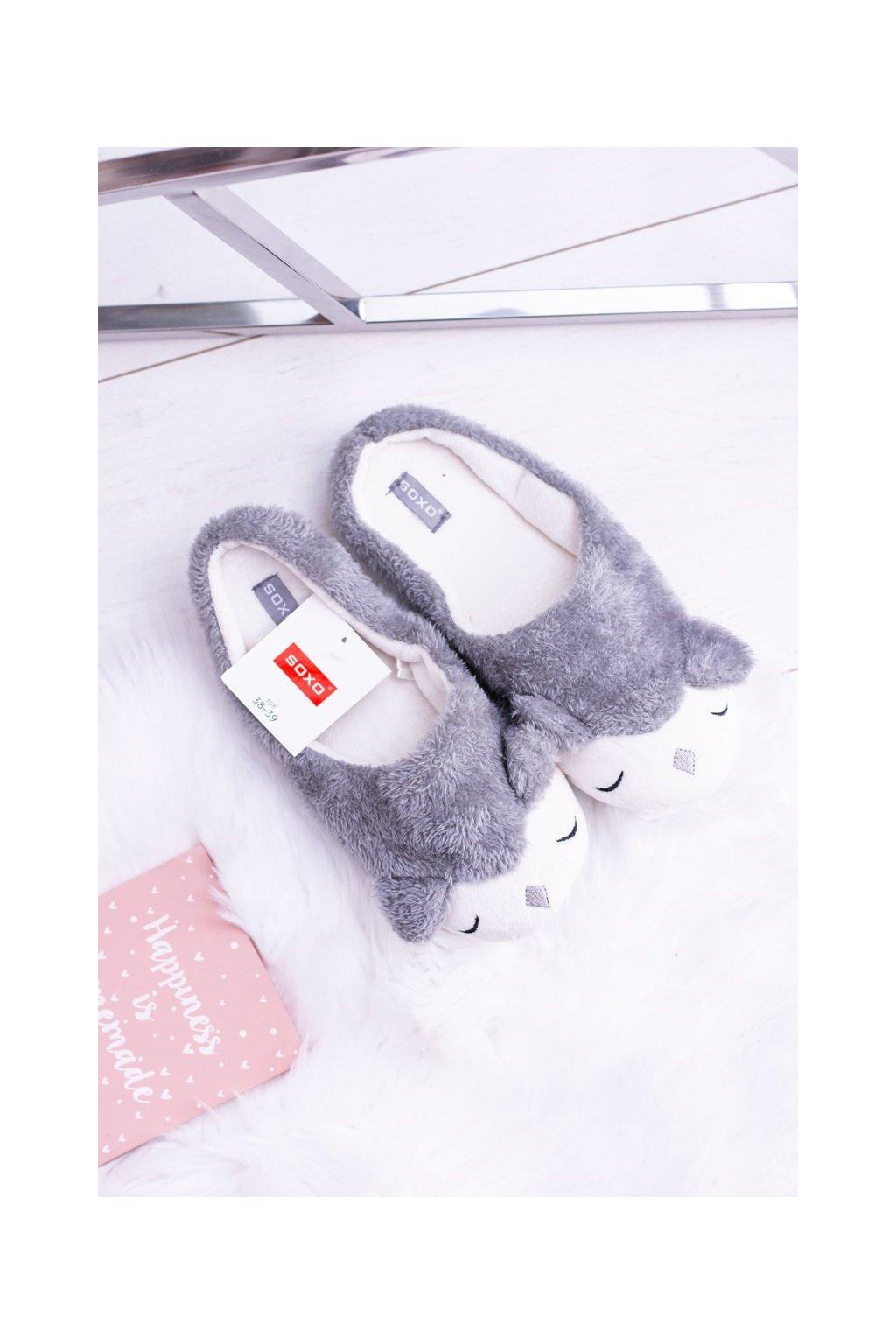 Dámske šľapky farba sivá kód obuvi 68346B GREY