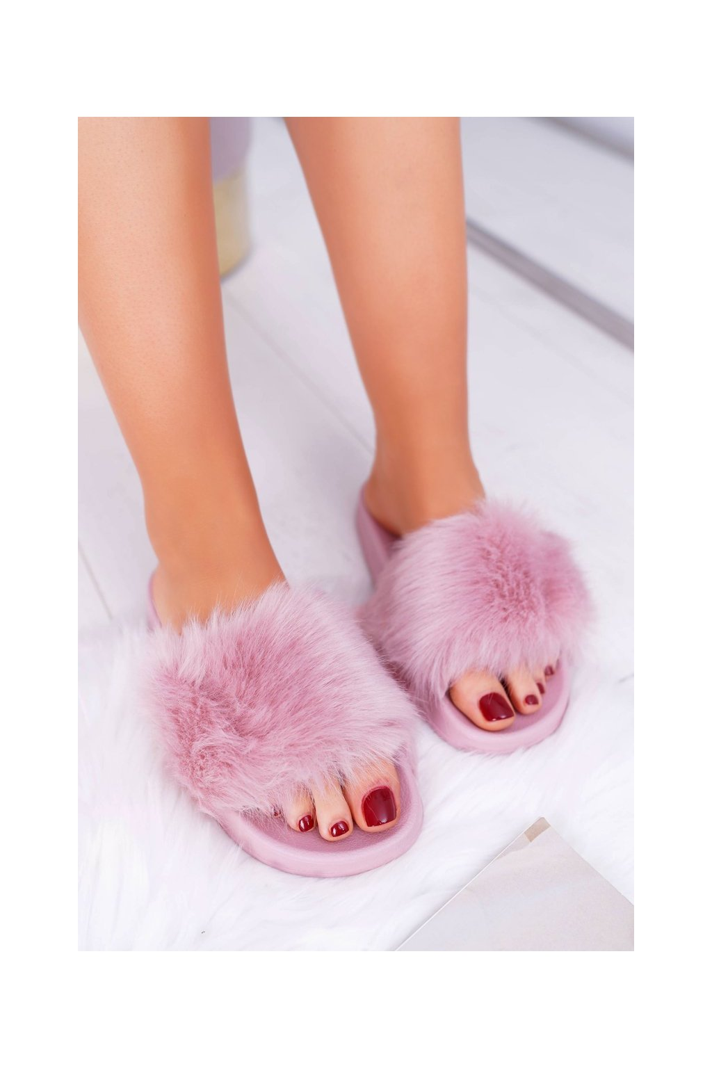 Dámske šľapky farba ružová kód obuvi ZD800-27 L.PURPLE