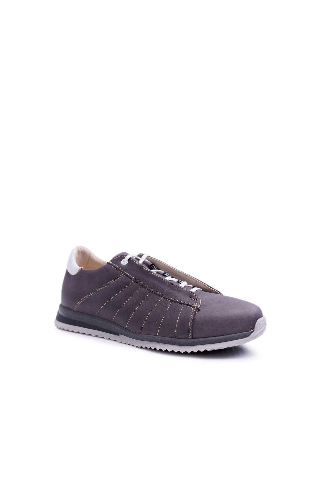 Pánske poltopánky farba sivá kód obuvi N401 GREY