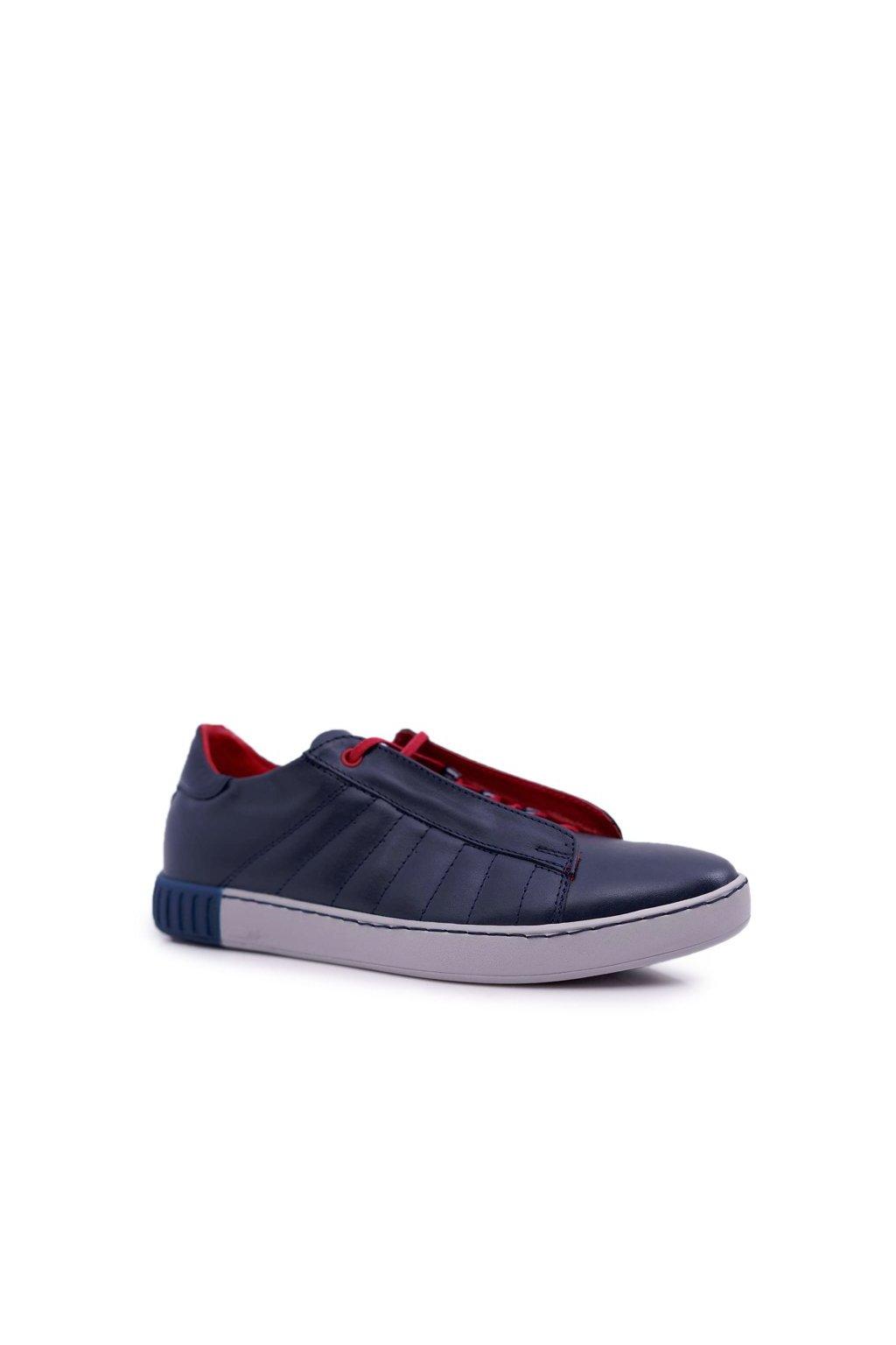 Pánske poltopánky farba modrá kód obuvi N401A NAVY