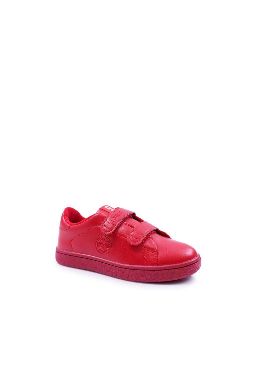 Detské tenisky farba červená kód obuvi DD374030 RED