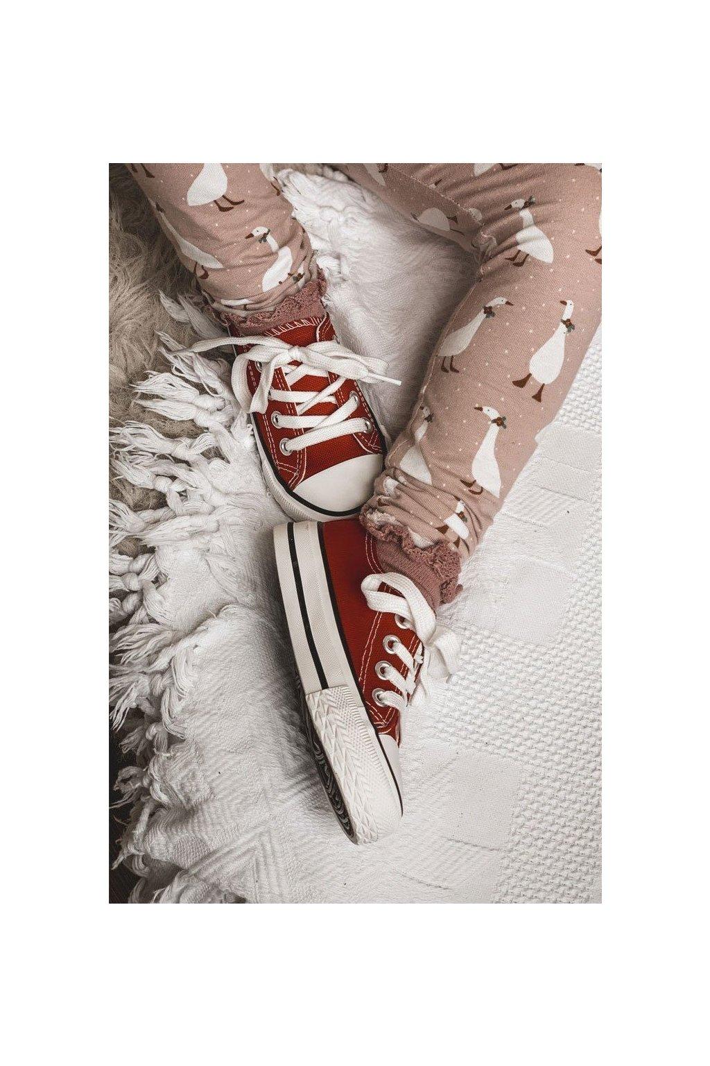Detské tenisky farba červená kód obuvi 844-3D/860-E RED