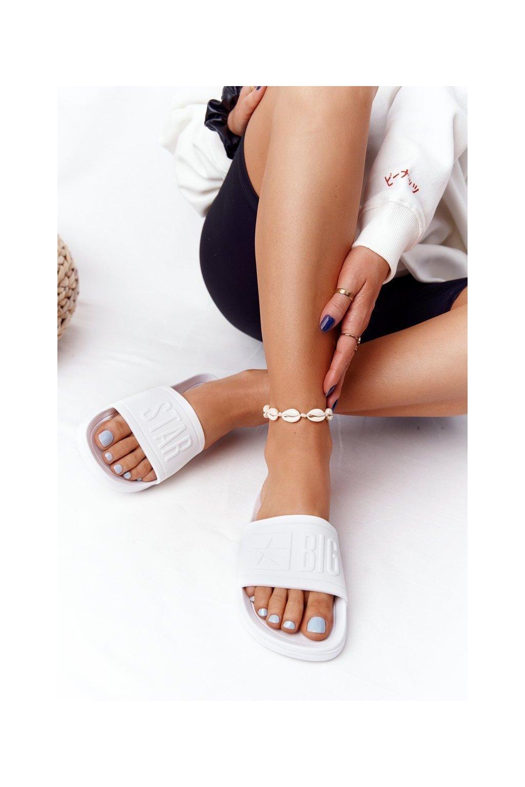 Dámske šľapky farba biela kód obuvi DD274A268 WHITE