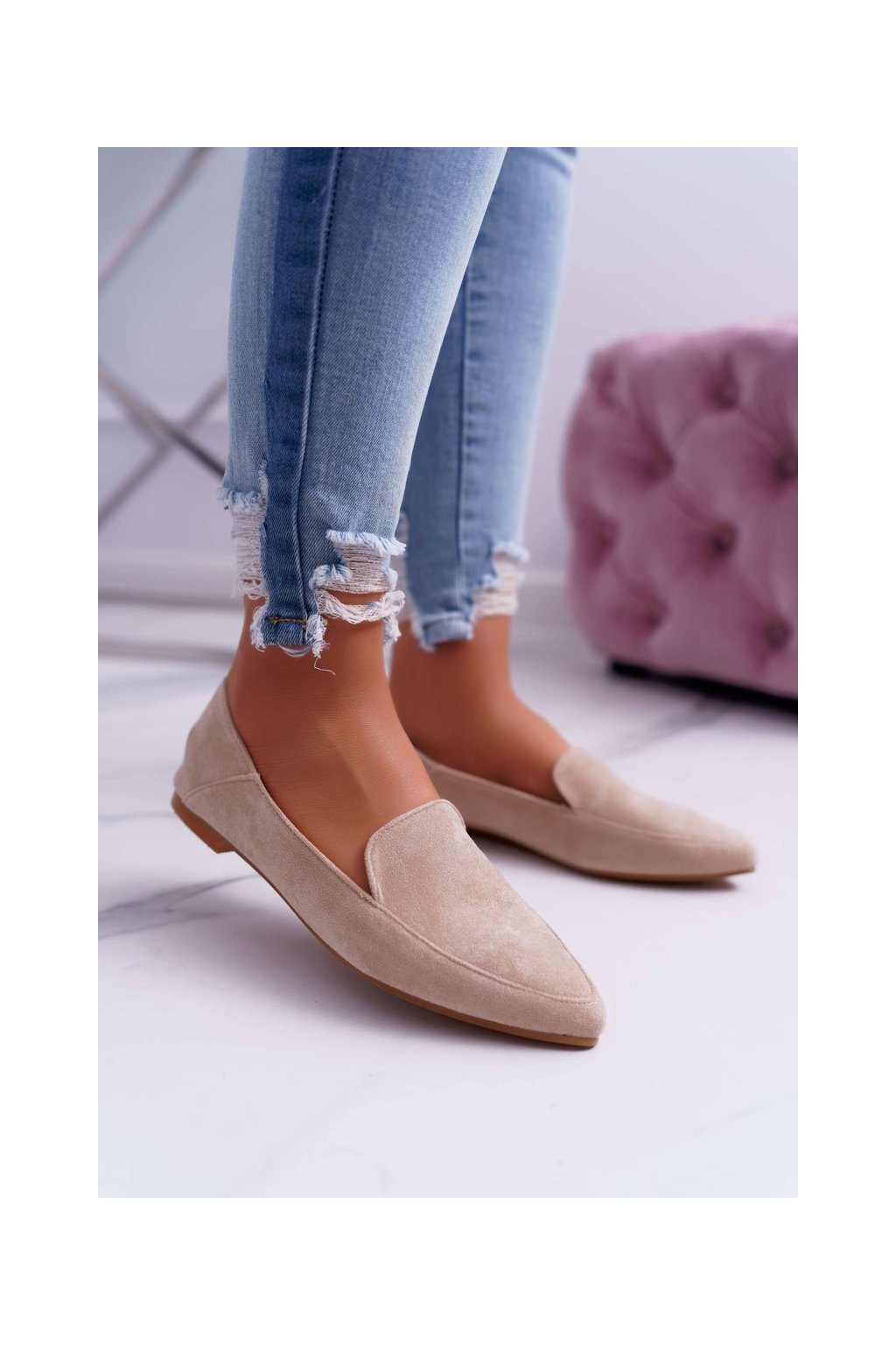 Dámske mokasíny farba hnedá kód obuvi 978-TT6 APRICOT