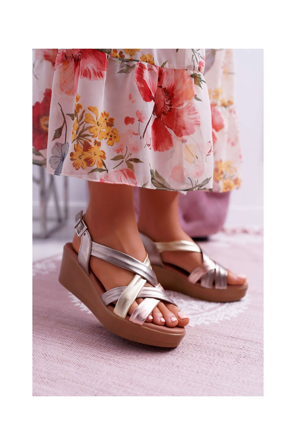 Dámske sandále farba žltá kód obuvi ESP27-25/00-1 CAVA COMBI