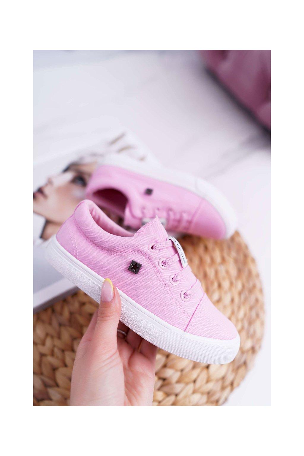 Detské tenisky farba ružová kód obuvi DD374076 PINK