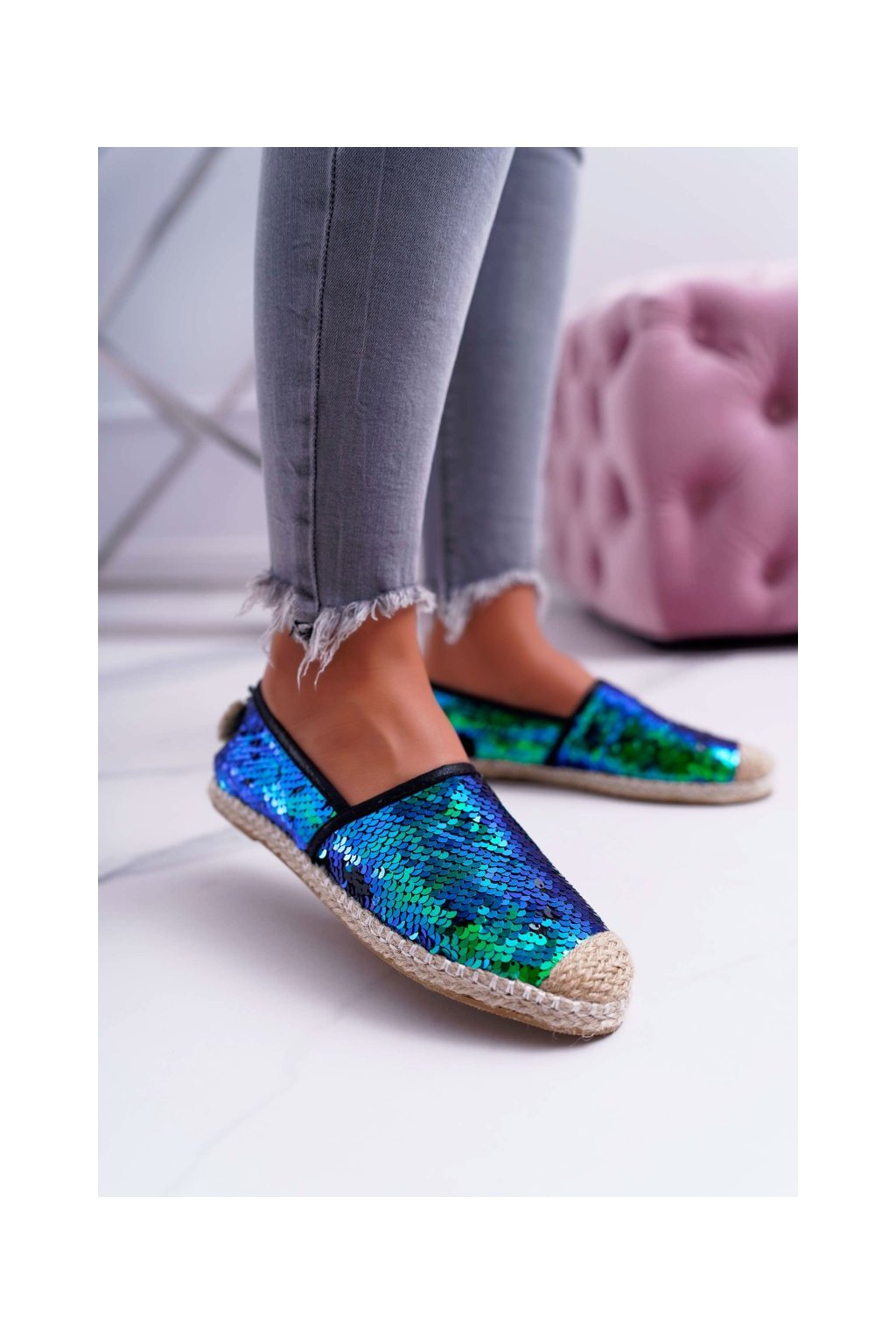 Dámske tenisky farba zelená kód obuvi 2870-5 GREEN
