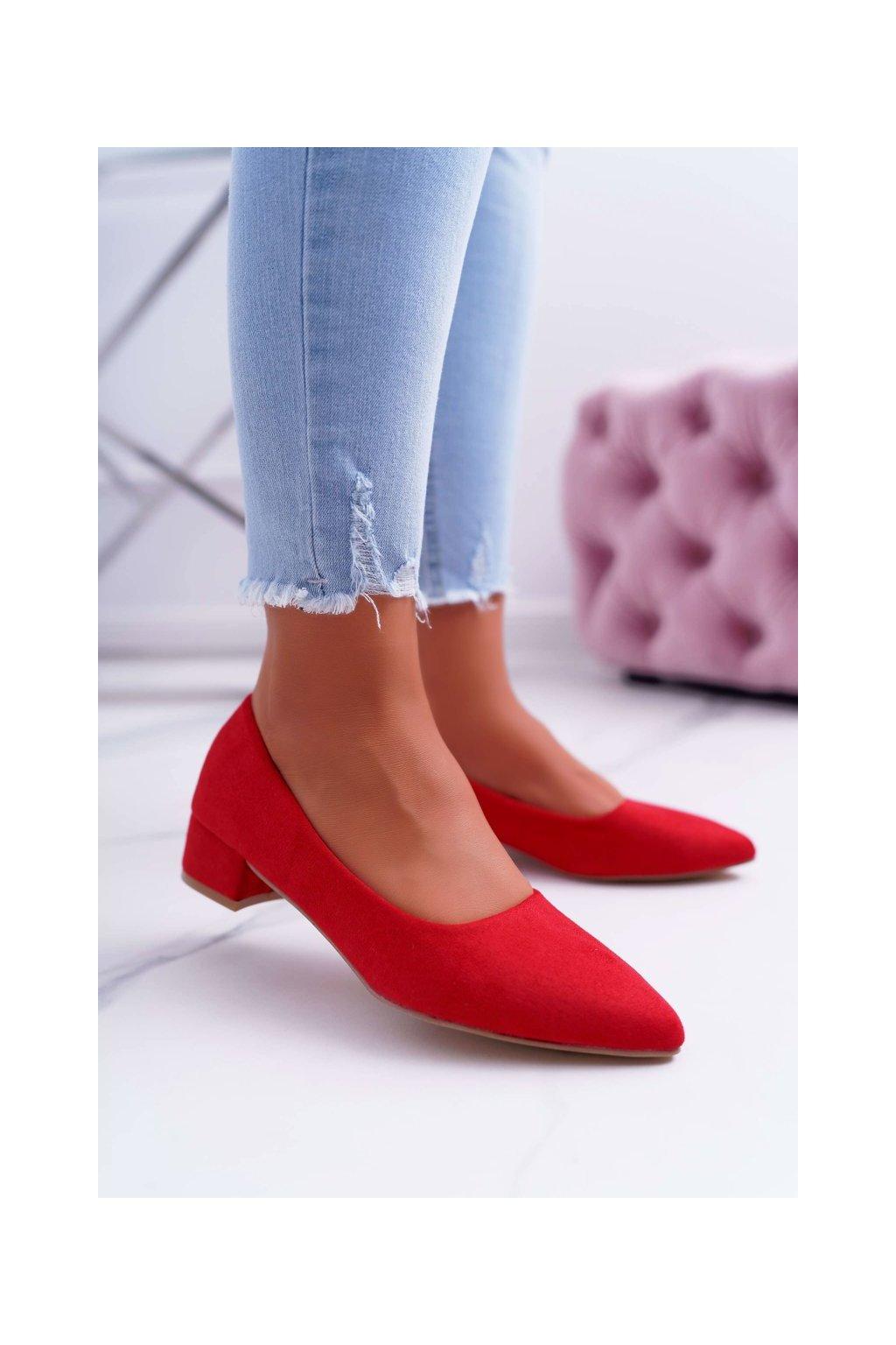Dámske lodičky farba červená kód obuvi CC205 RED