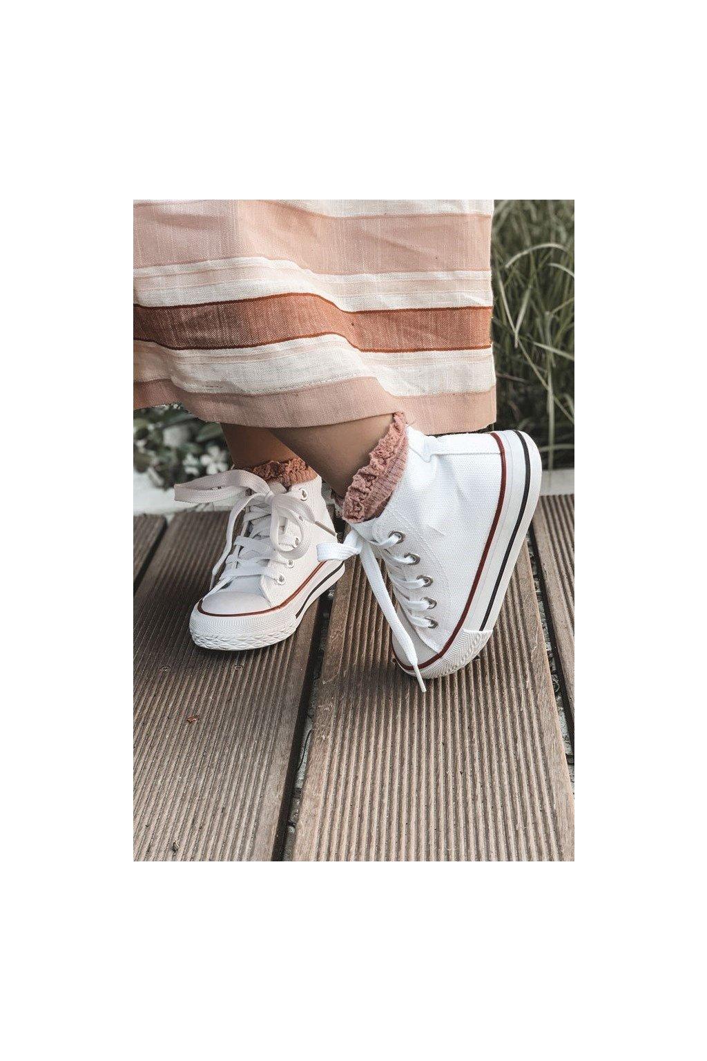 Detské tenisky farba biela kód obuvi 845-3B/80090-B WHT