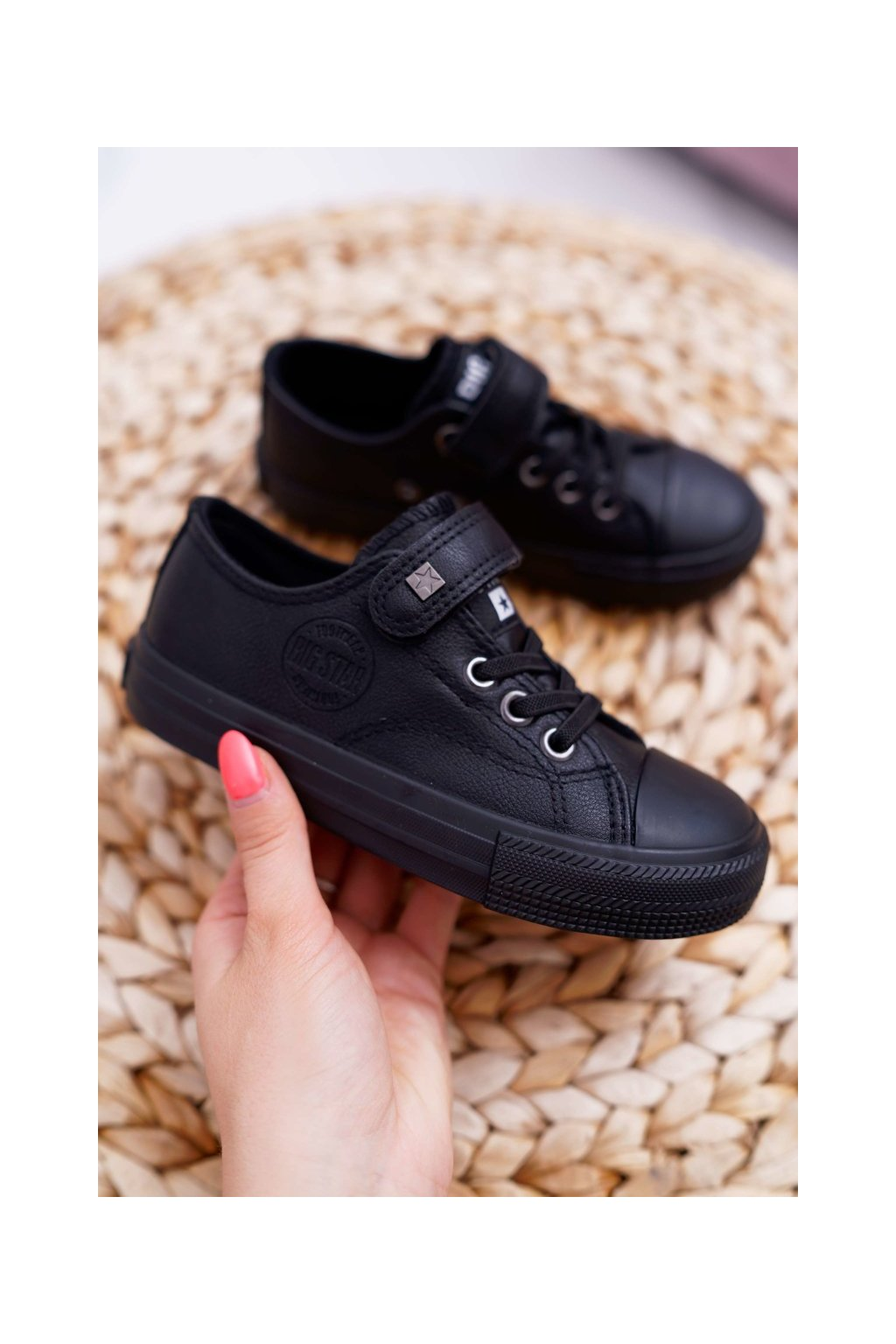 Detské tenisky farba čierna kód obuvi EE374034 BLK