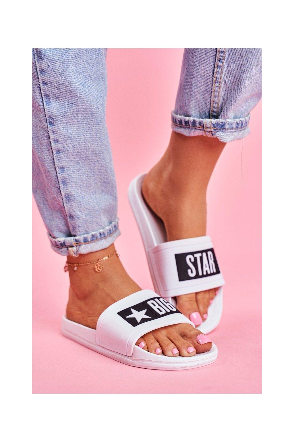 Dámske šľapky farba biela kód obuvi DD274A264 WHITE