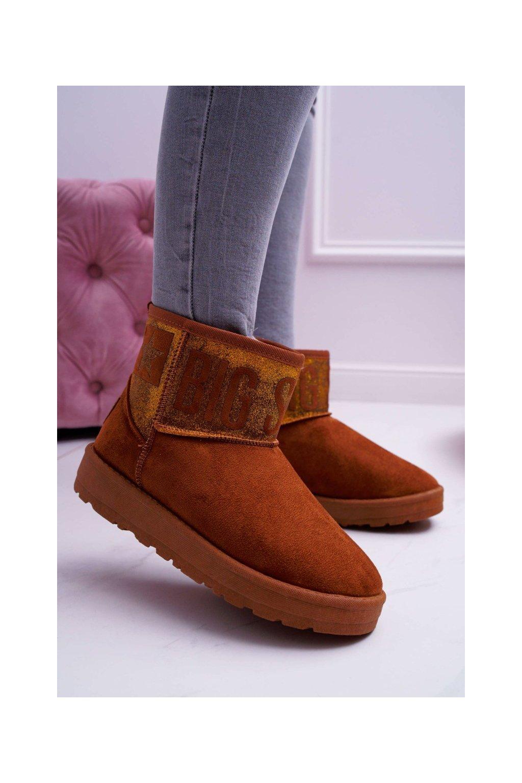 Dámske snehule farba hnedá kód obuvi EE274259 CAMEL