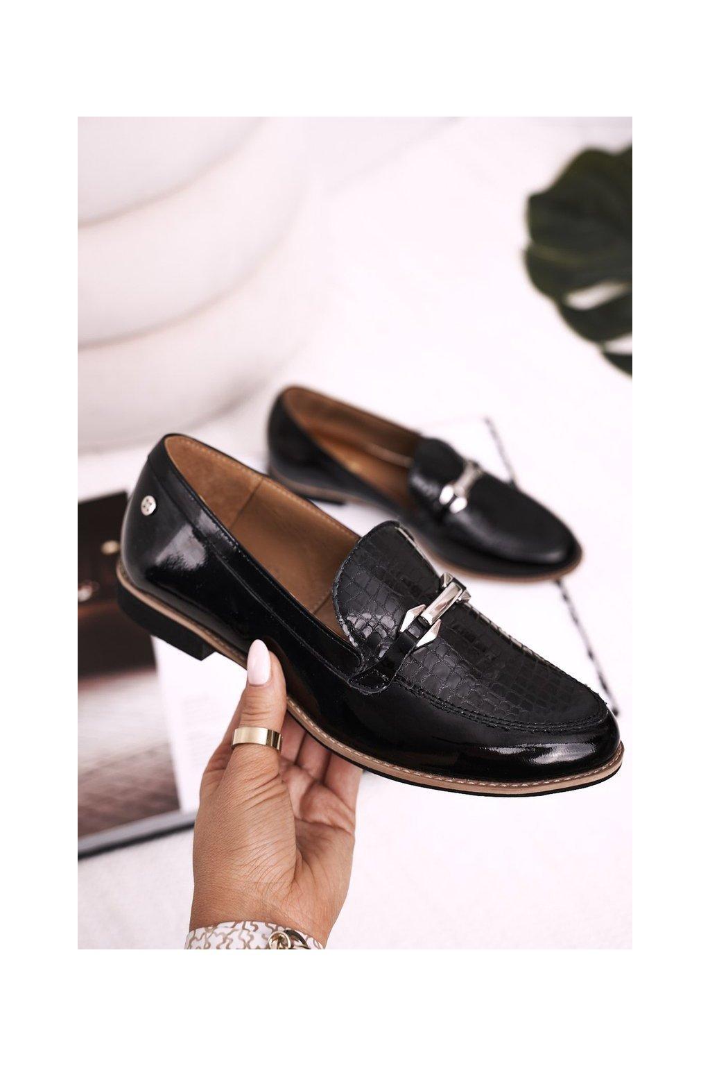 Dámske poltopánky farba čierna kód obuvi 4099A-01/00-1 BLK