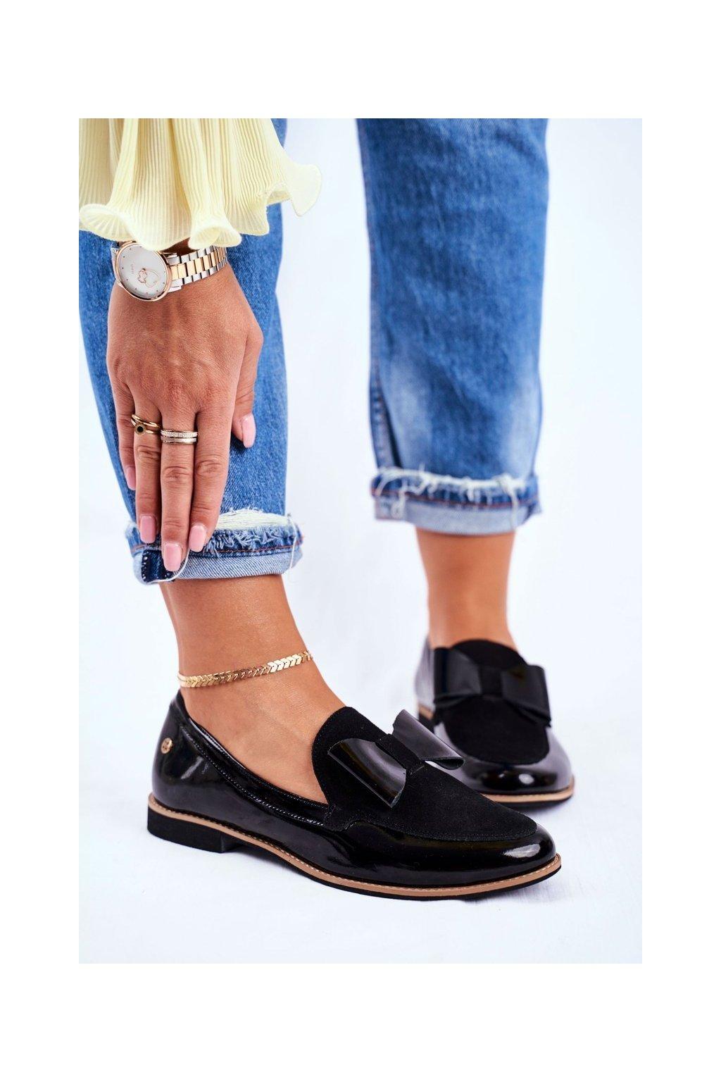 Dámske poltopánky farba čierna kód obuvi 04099-01/00-5 BLK