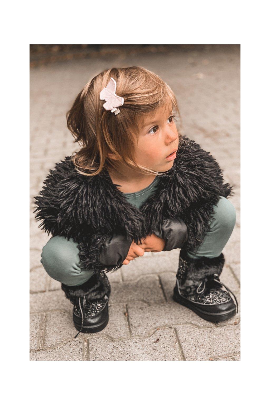 Detské snehule farba čierna kód obuvi 20216-1A/2A/3A BLK