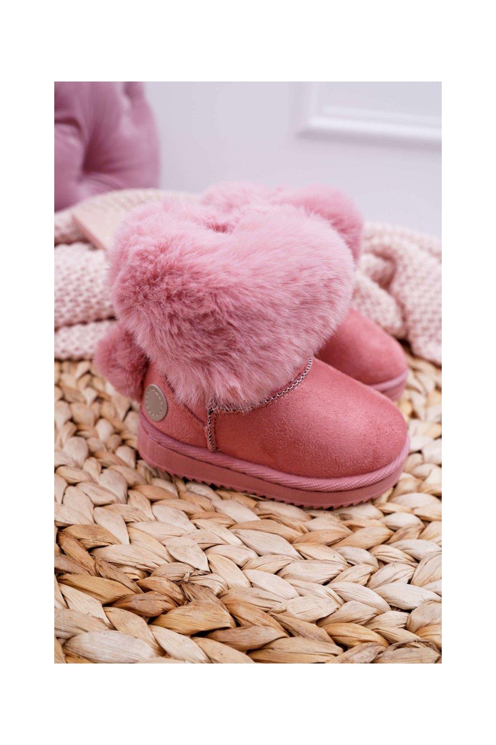Detské snehule farba ružová kód obuvi 20232-1C/2C PINK