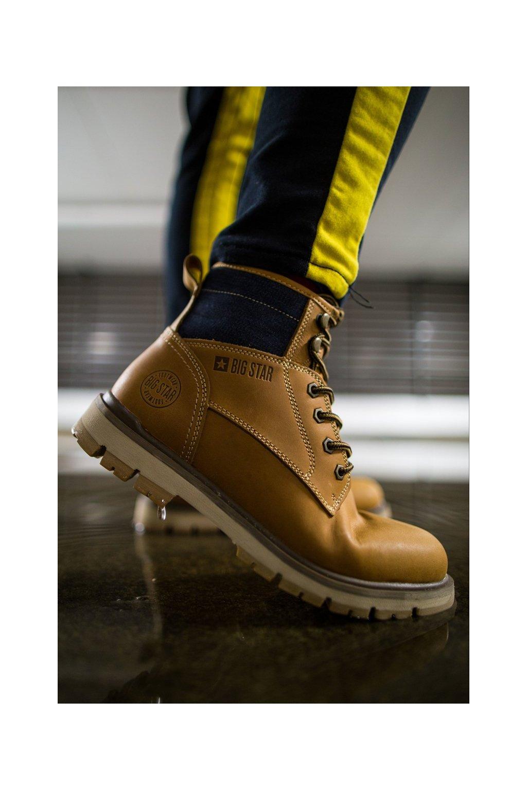 Pánske topánky na zimu farba hnedá kód obuvi EE174266 CAMEL