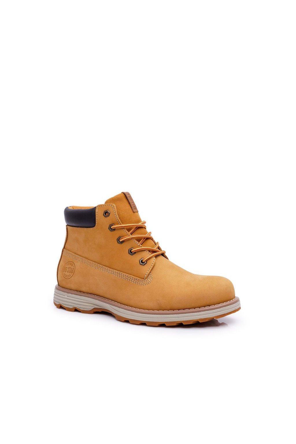 Pánske topánky na zimu farba hnedá kód obuvi EE174227 CAMEL