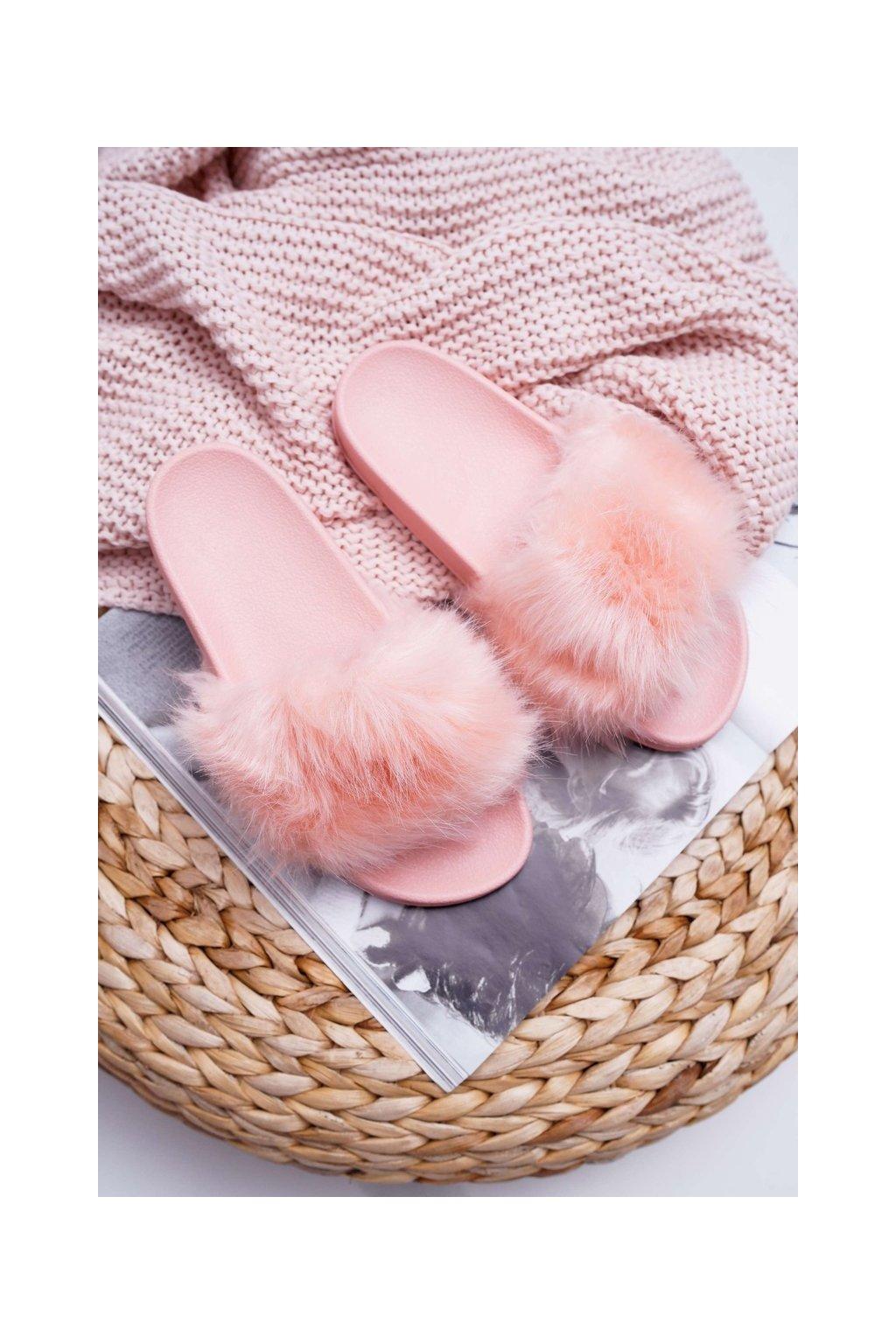 Dámske šľapky farba ružová kód obuvi ZD800-16 L.PINK
