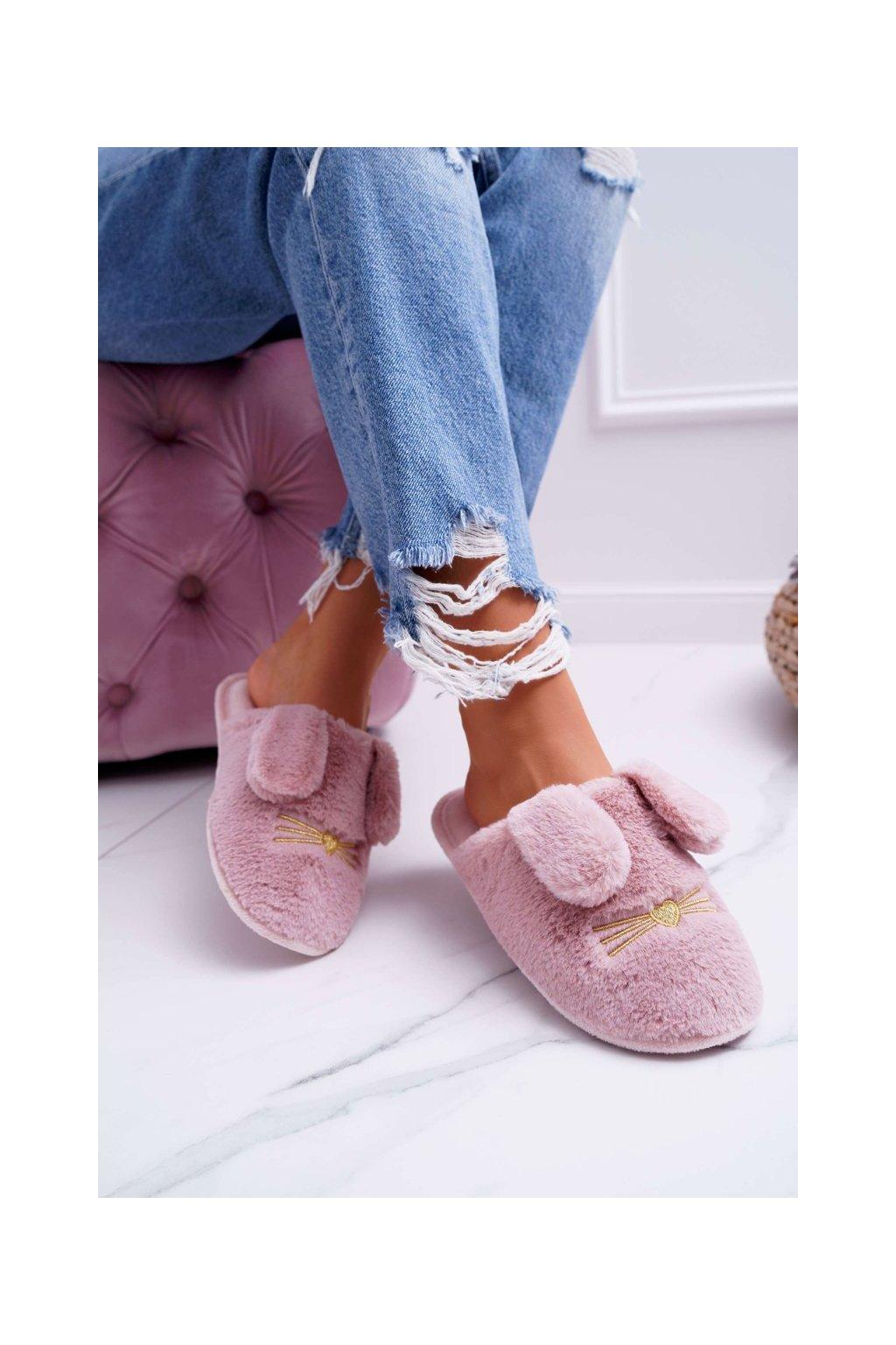 Dámske šľapky farba ružová kód obuvi KP02-12 D.PINK