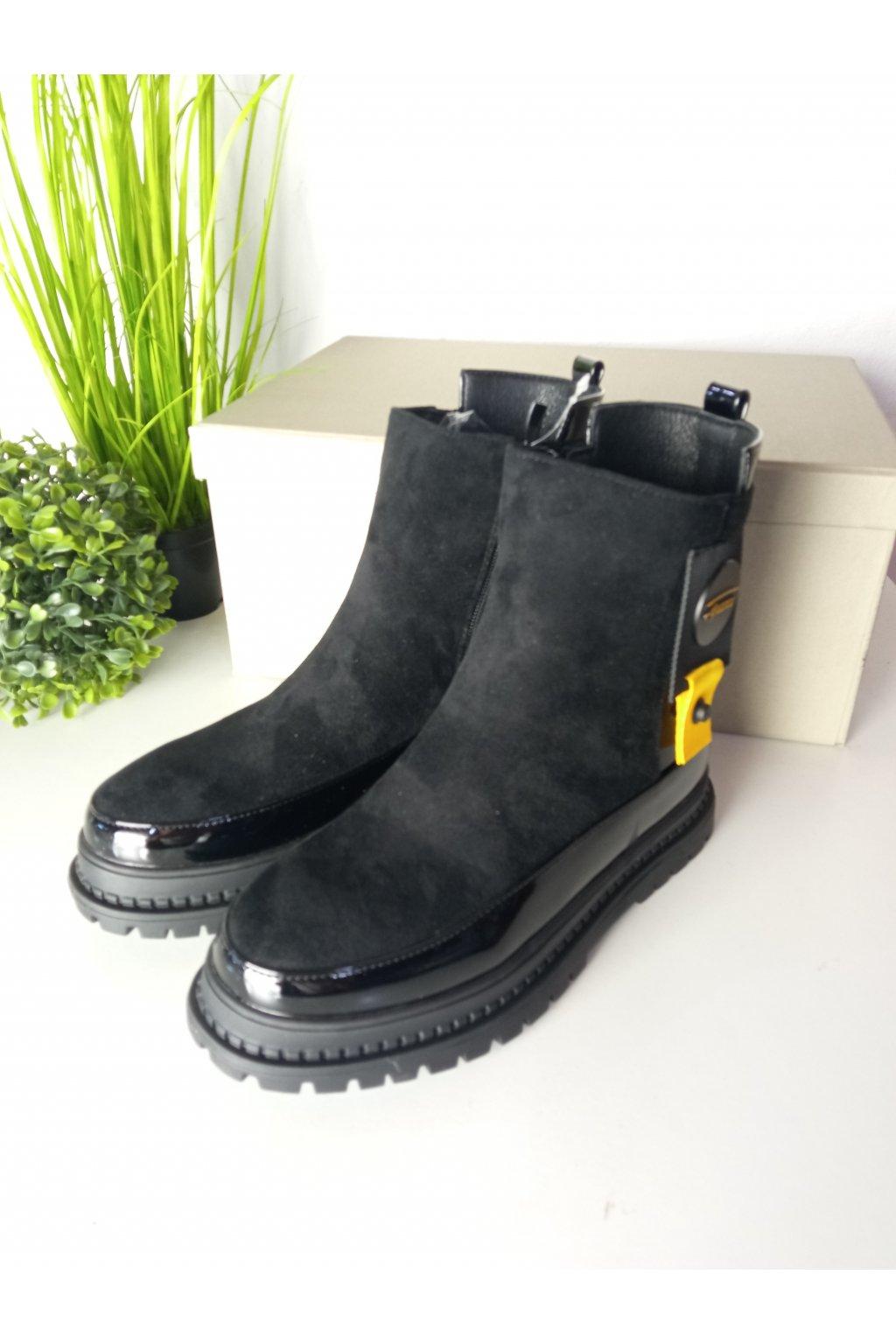 Čierne detské topánky NJSK DQ80