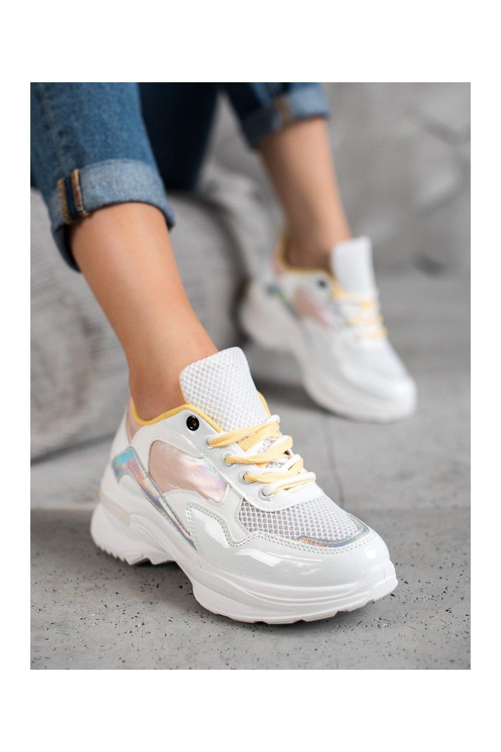Biele dámske tenisky Shelovet kod BO-537W/Y