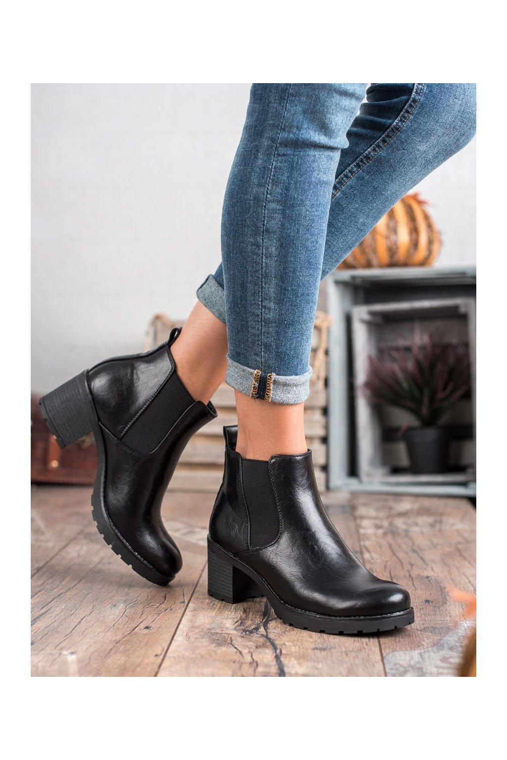 Čierne dámske topánky W. potocki kod XY20-10485B
