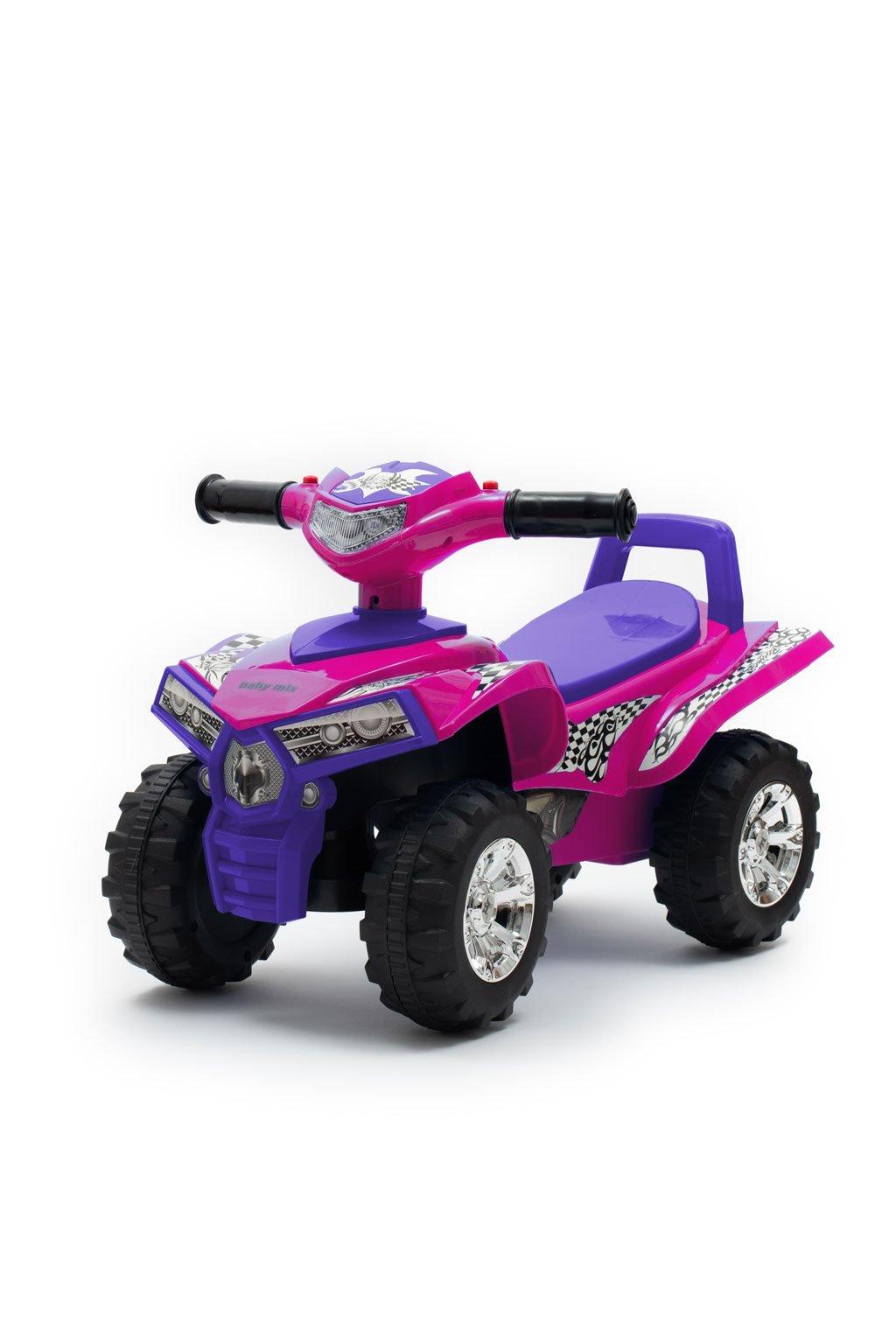 Detské odrážadlo so zvukom Štvorkolka Baby Mix ružové