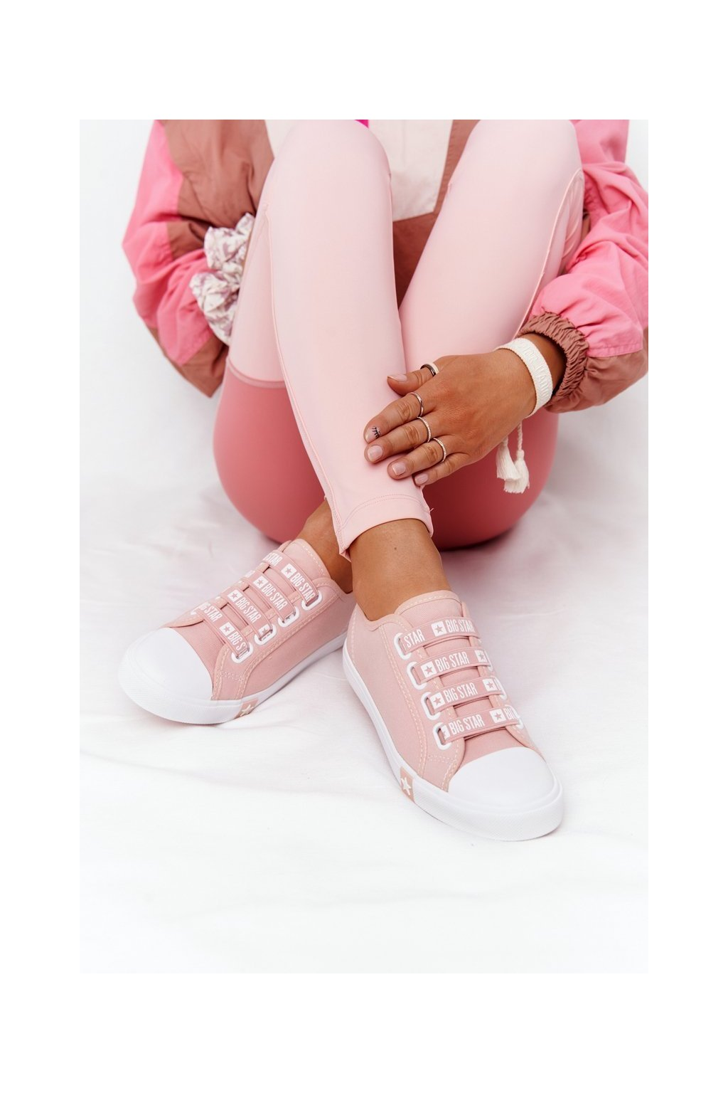 Dámske tenisky farba ružová kód obuvi HH274096 PINK