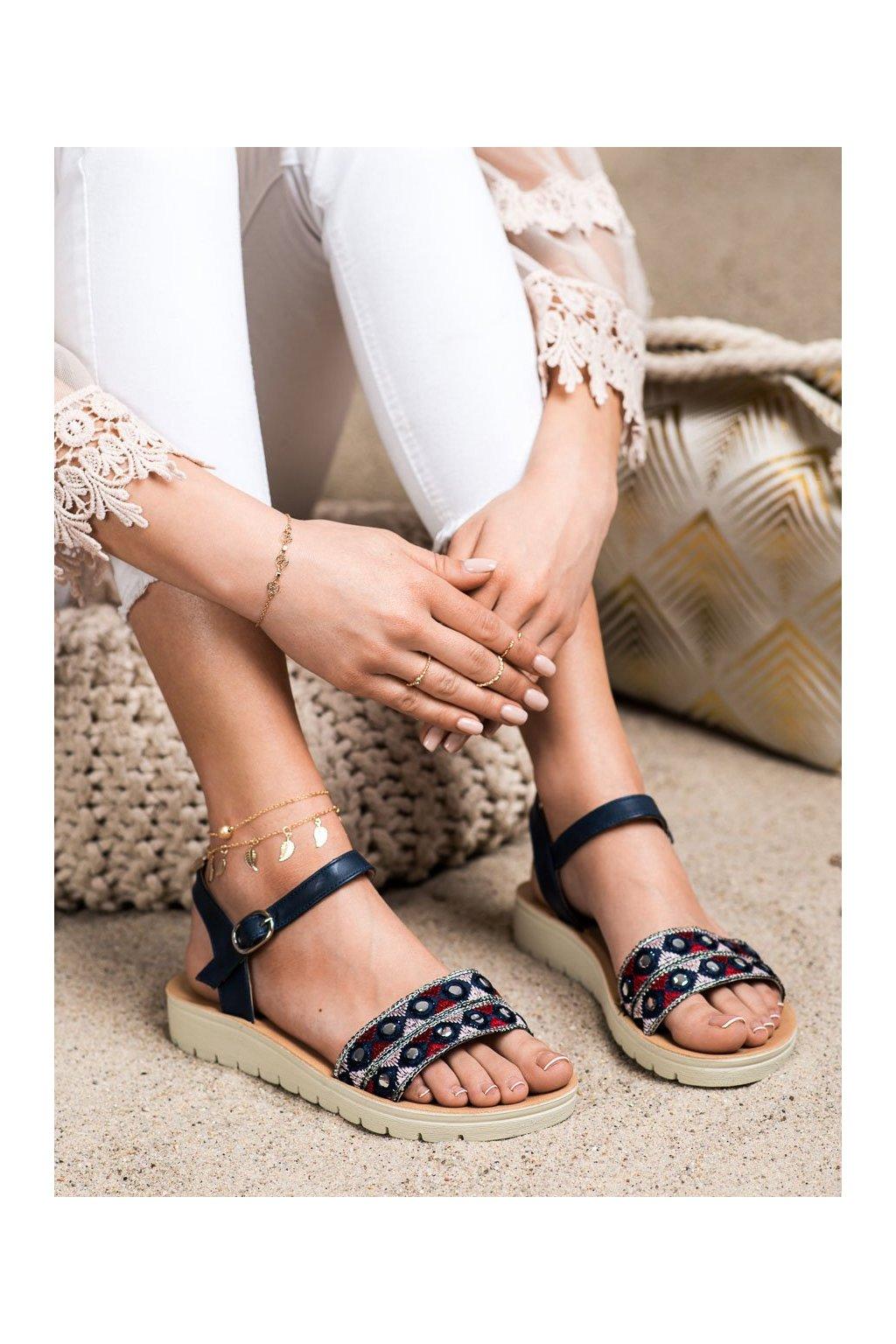 Fialové dámske sandále Shelovet kod B119-08-01MA