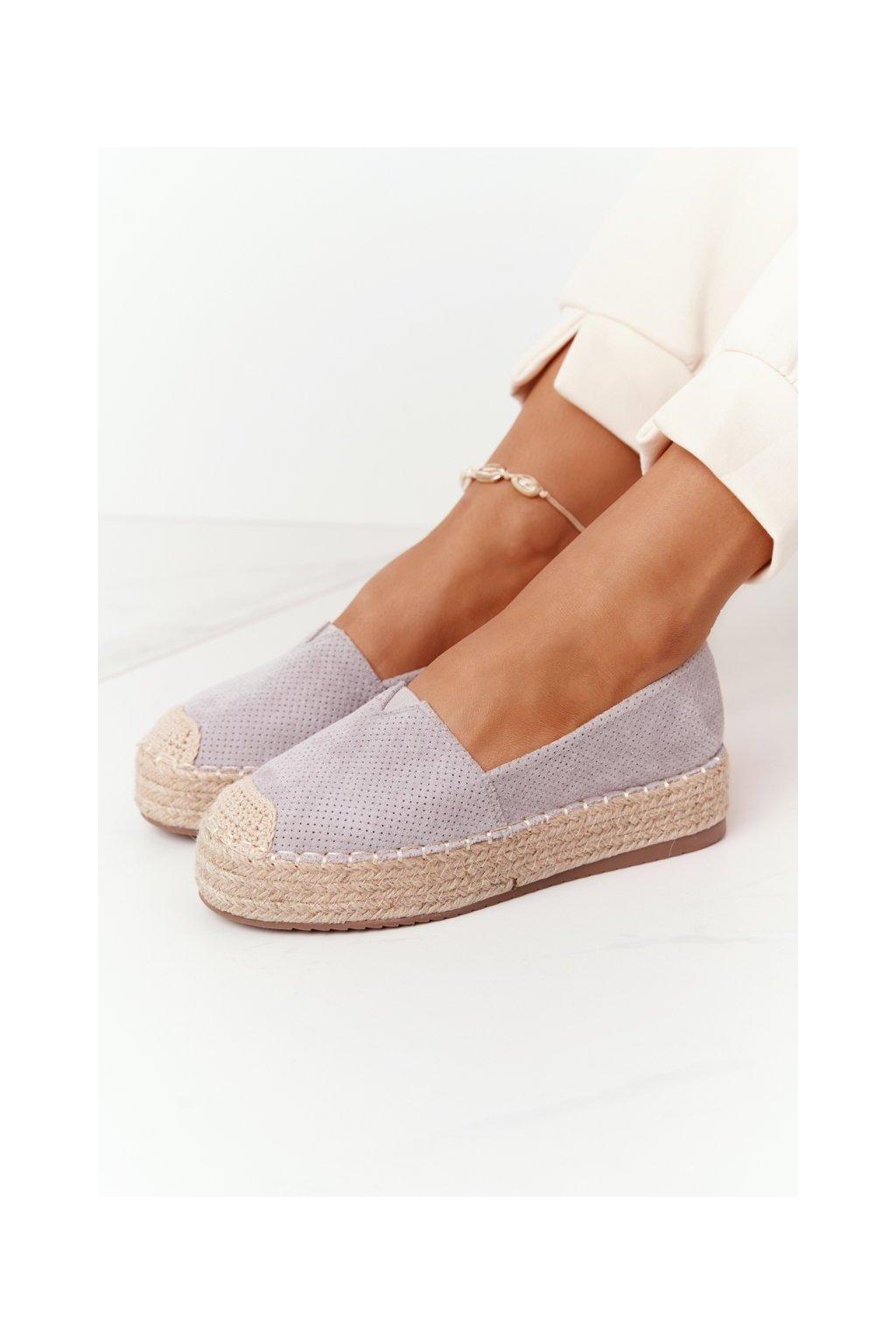 Dámske tenisky farba sivá kód obuvi BL1922-26 GREY
