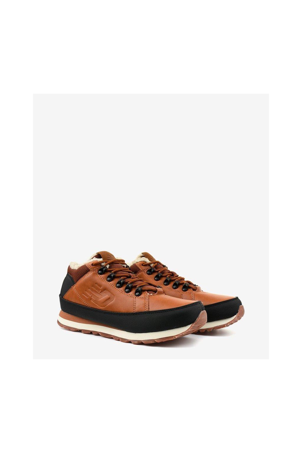Pánske topánky tenisky hnedé kód - GM