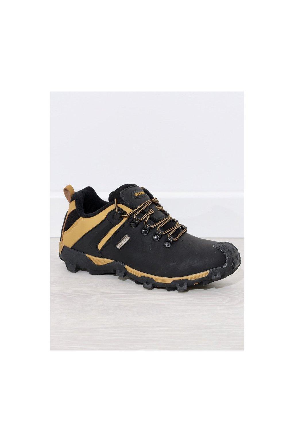 Pánske topánky trapery čierne kód - GM