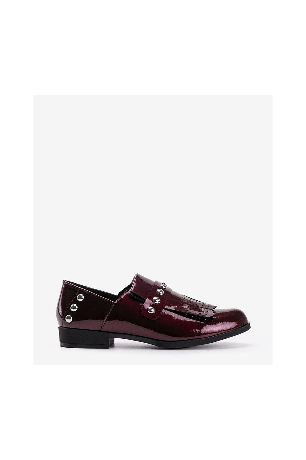 Dámske topánky mokasíny červené kód C18-6266 - GM