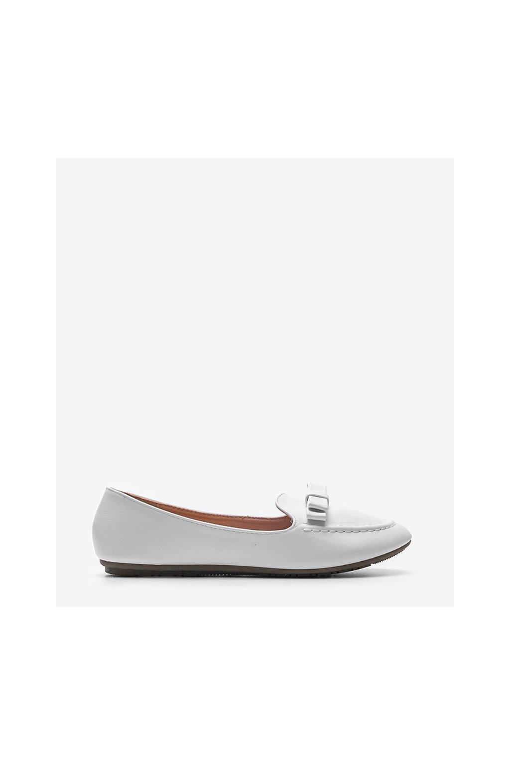 Dámske topánky mokasíny biele kód A8637 - GM