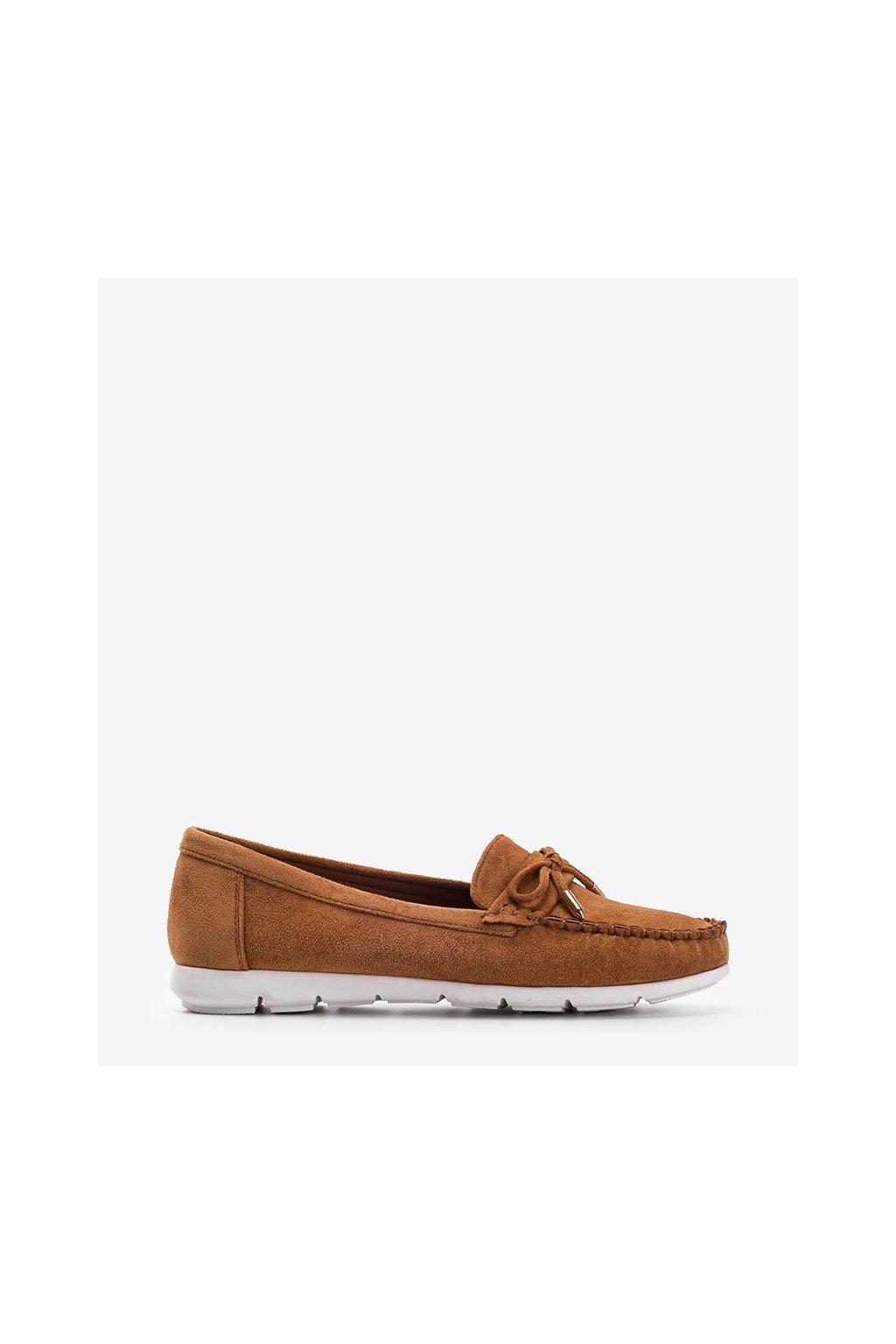 Dámske topánky mokasíny hnedé kód RQ-2 - GM