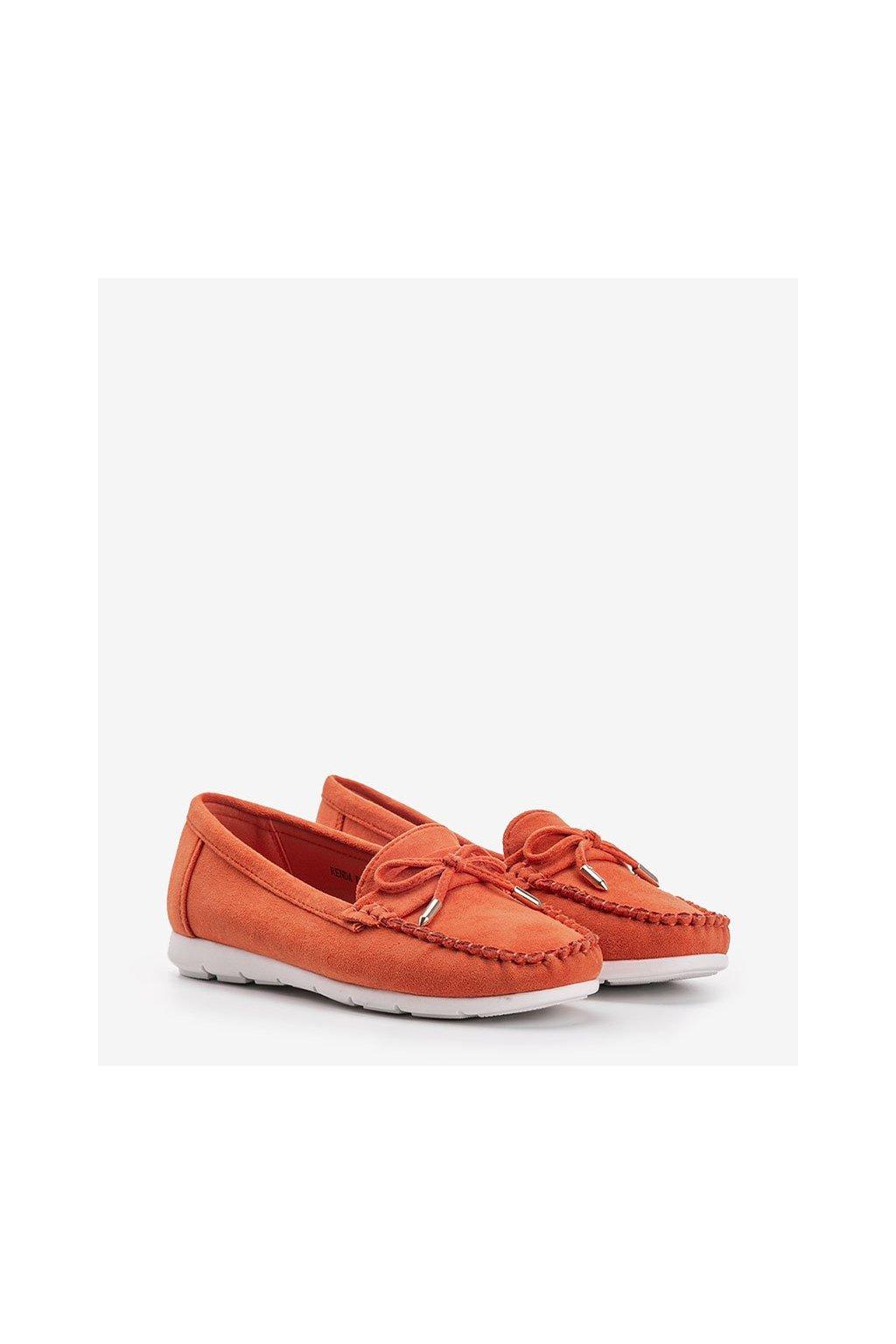 Dámske topánky mokasíny oranžové kód RQ-2 - GM