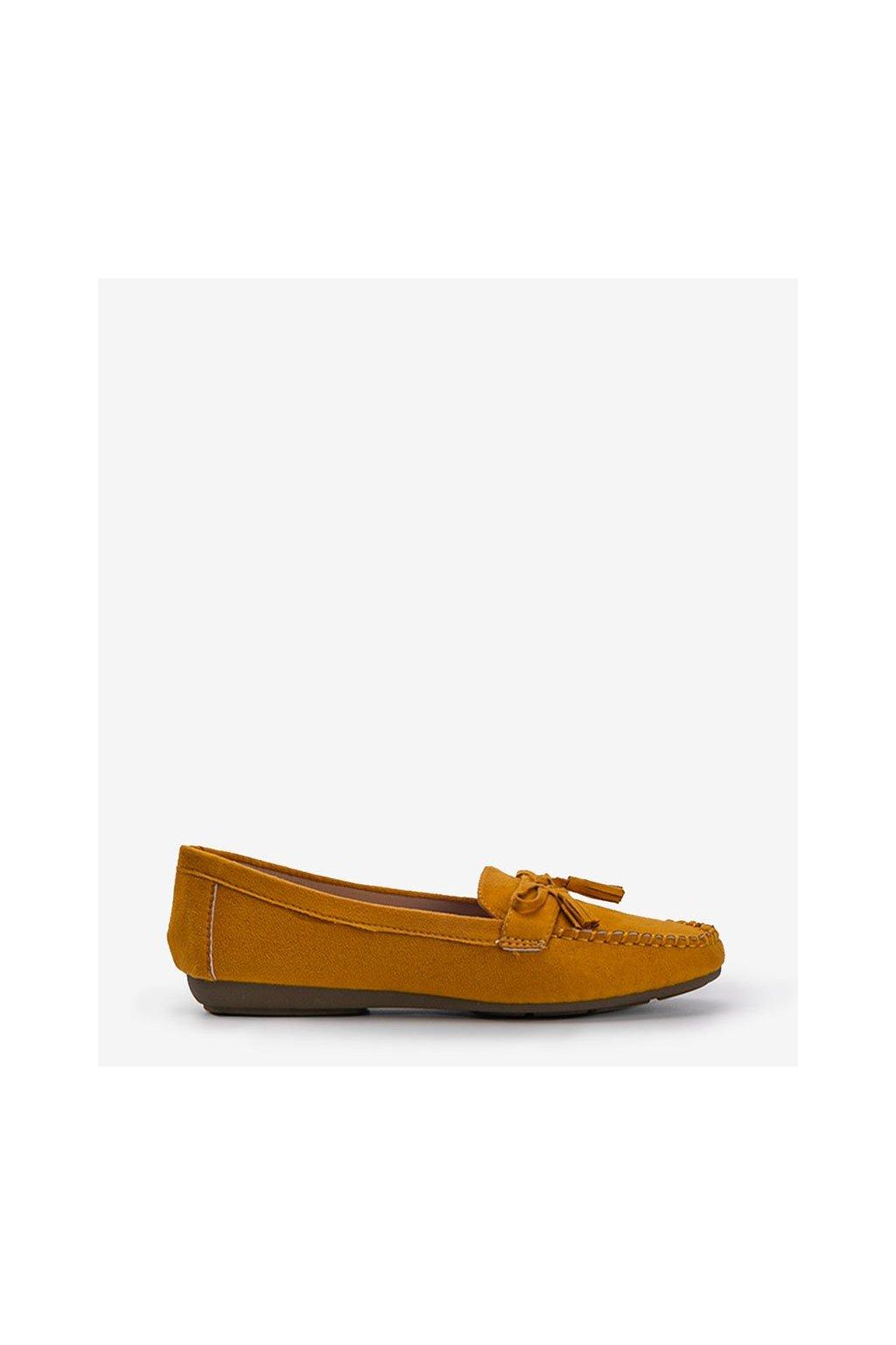 Dámske topánky mokasíny žlté kód XR-1R2-16 - GM