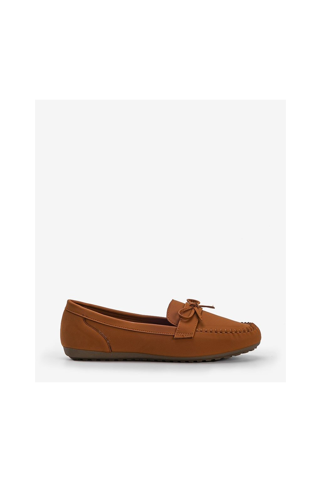 Dámske topánky mokasíny hnedé kód OF217 - GM