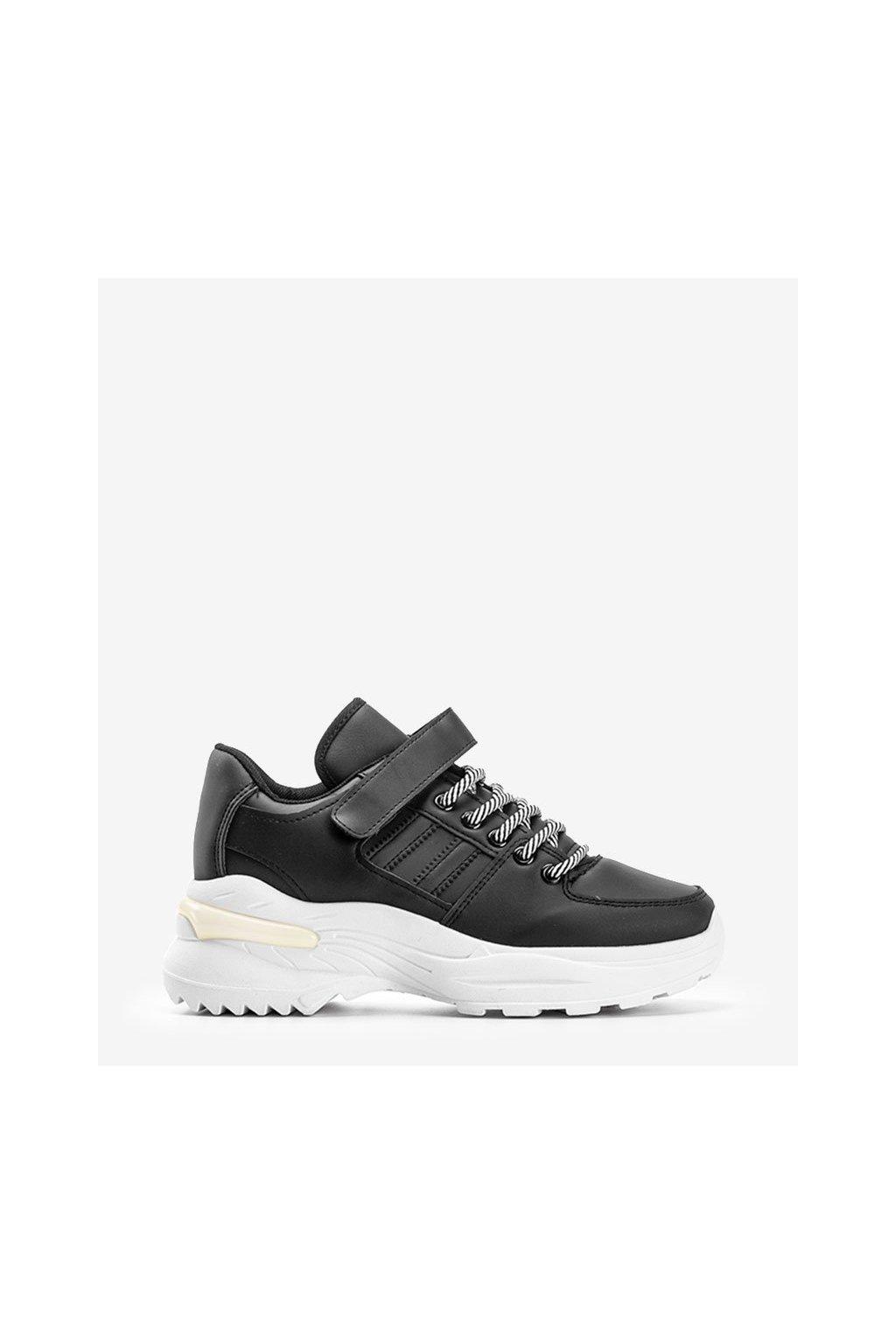 Dámske topánky tenisky čierne kód LL1760 BL - GM