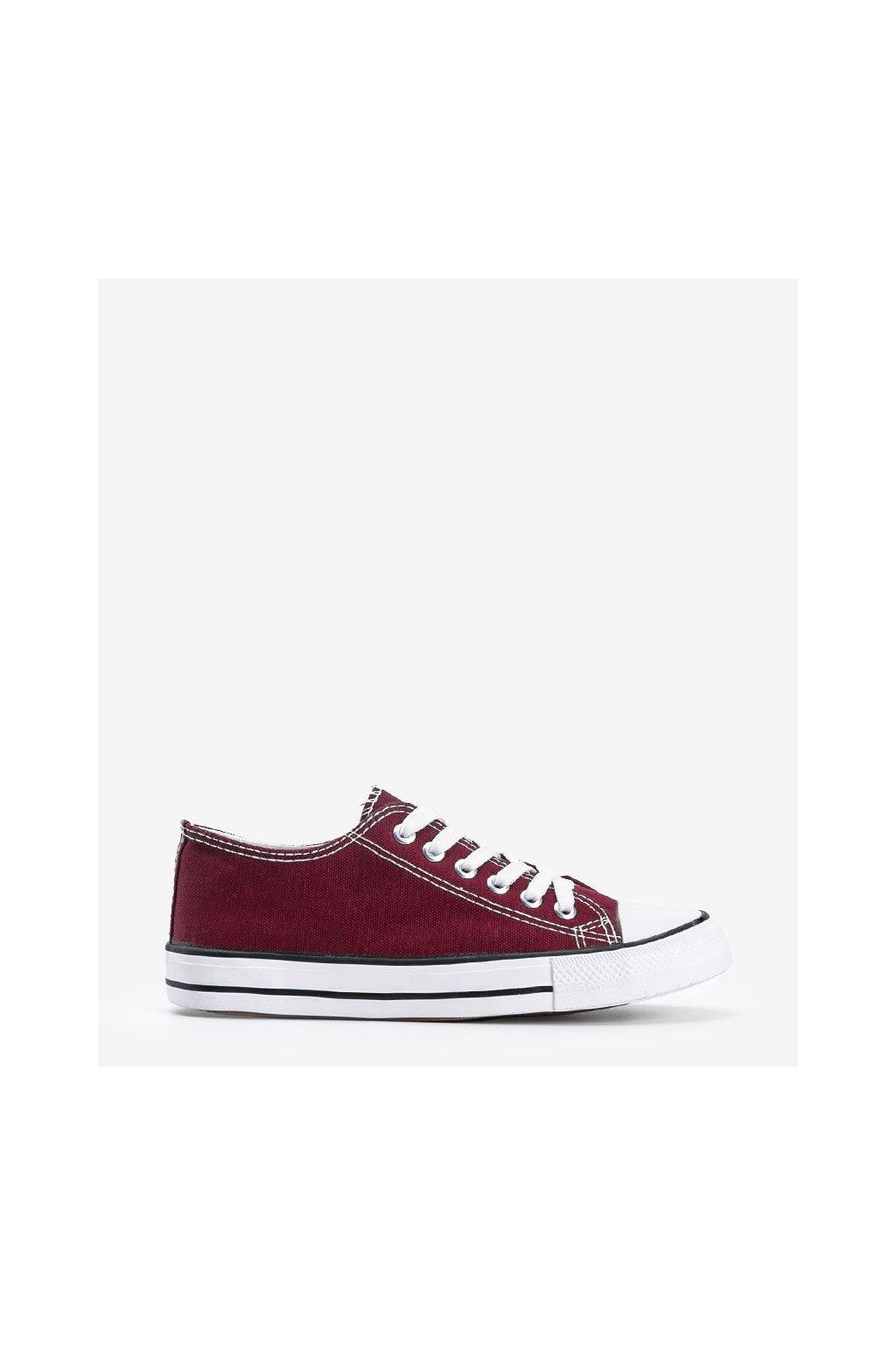 Dámske topánky tenisky bordové kód LD8A07 - GM