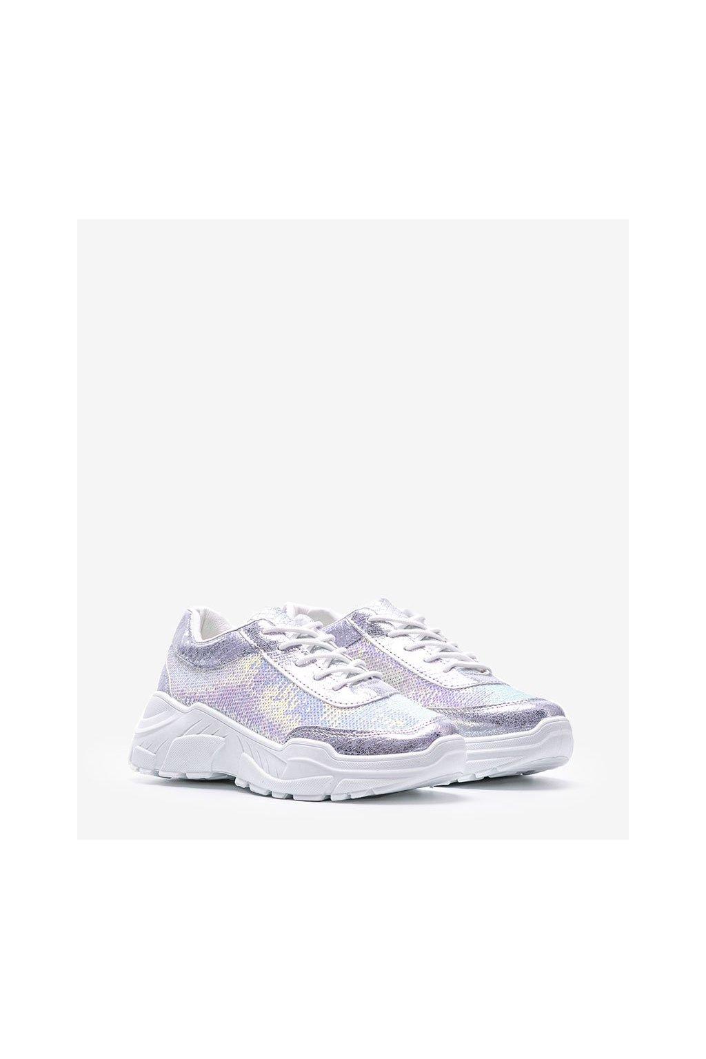 Dámske topánky tenisky sivé kód 1069 - GM