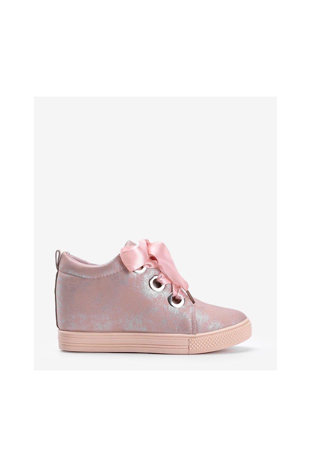Dámske topánky tenisky ružové kód DD383-4 - GM