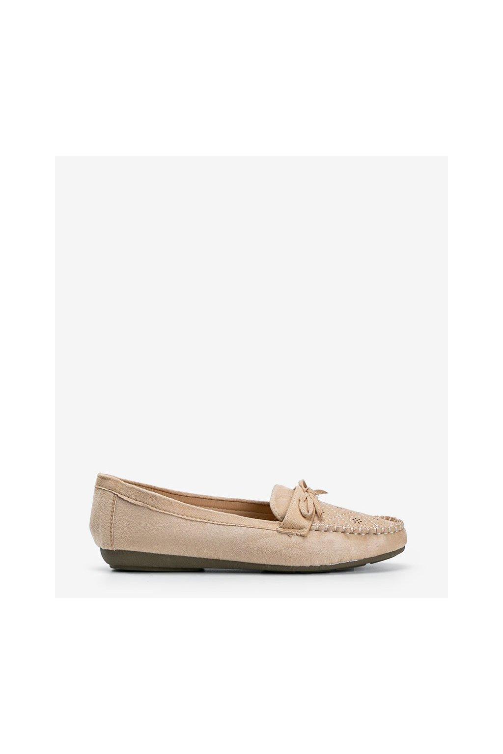 Dámske topánky mokasíny hnedé kód 1R3-13 - GM