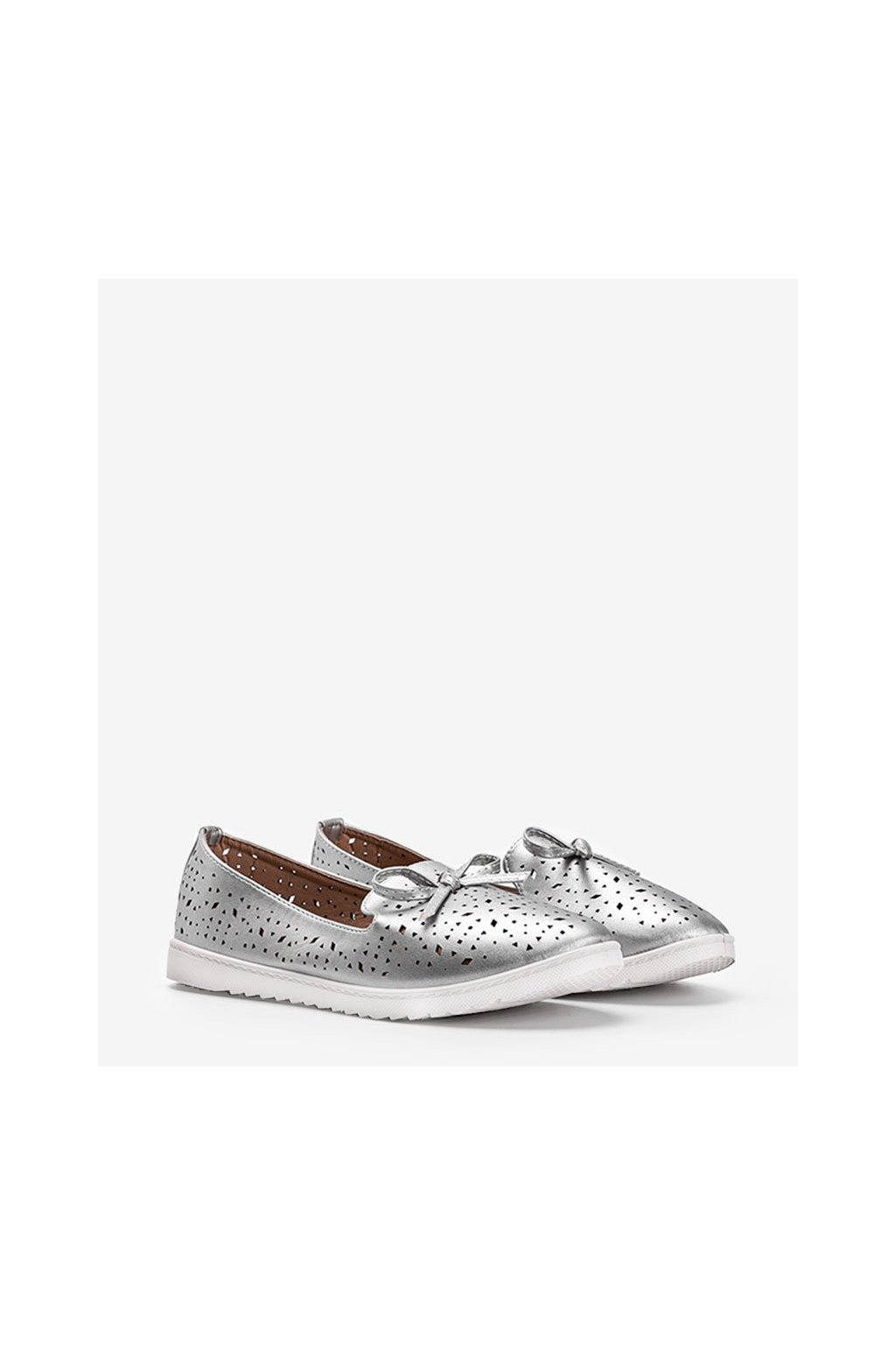 Dámske topánky mokasíny sivé kód DY-05 - GM
