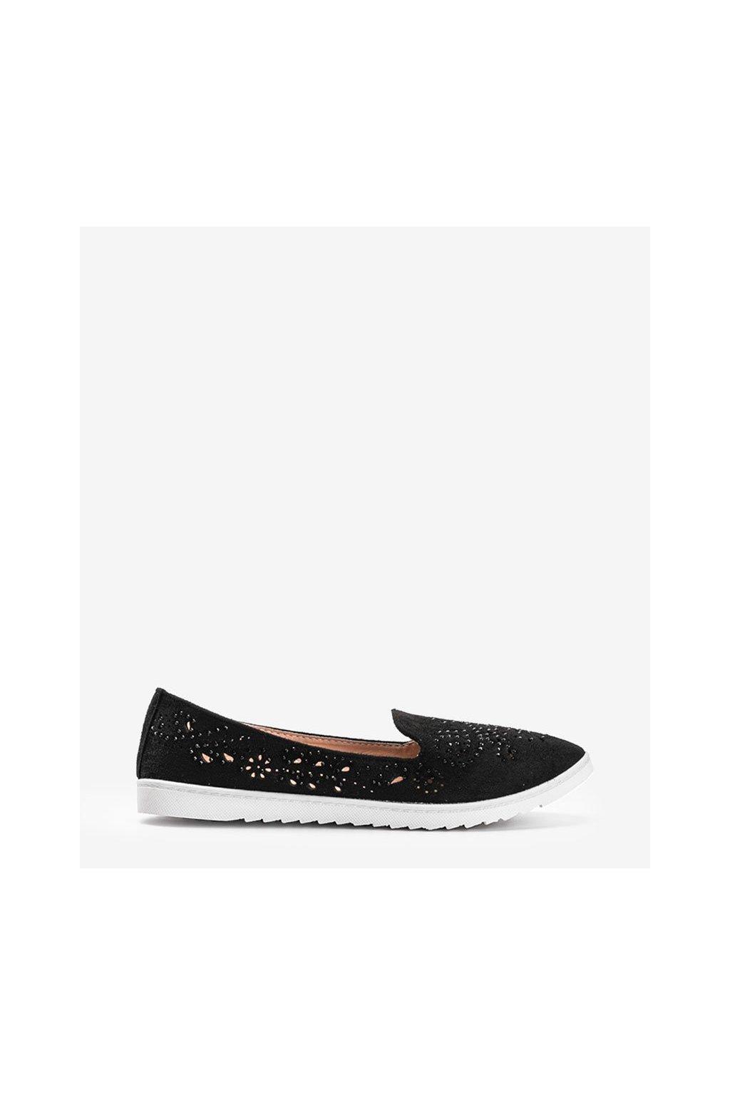 Dámske topánky mokasíny čierne kód DY-09 - GM